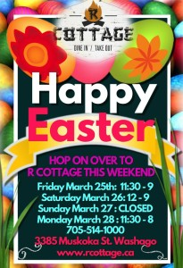 Hoppy Easter ~ Long Weekend Hours