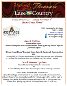 Fall Flavours of Lake Country Menu!
