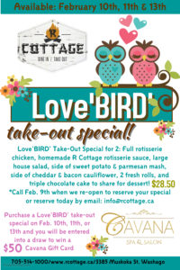 Love'BIRD' Take-Out Special is BACK!